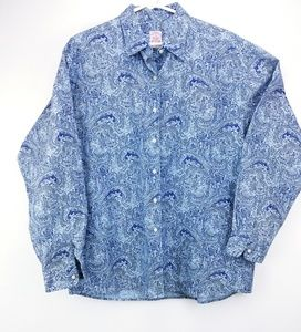 Blue Paisley Brooks Brothers button up long sleeve